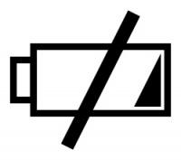 Náhradní akumulátor, ilustrační ikona
