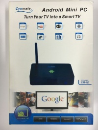 Cynmate CM-Q7, dual core Android TV BOX