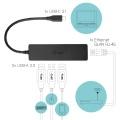 i-tec USB 3.1 Type C SLIM HUB 3-Port Gigabit Eth.